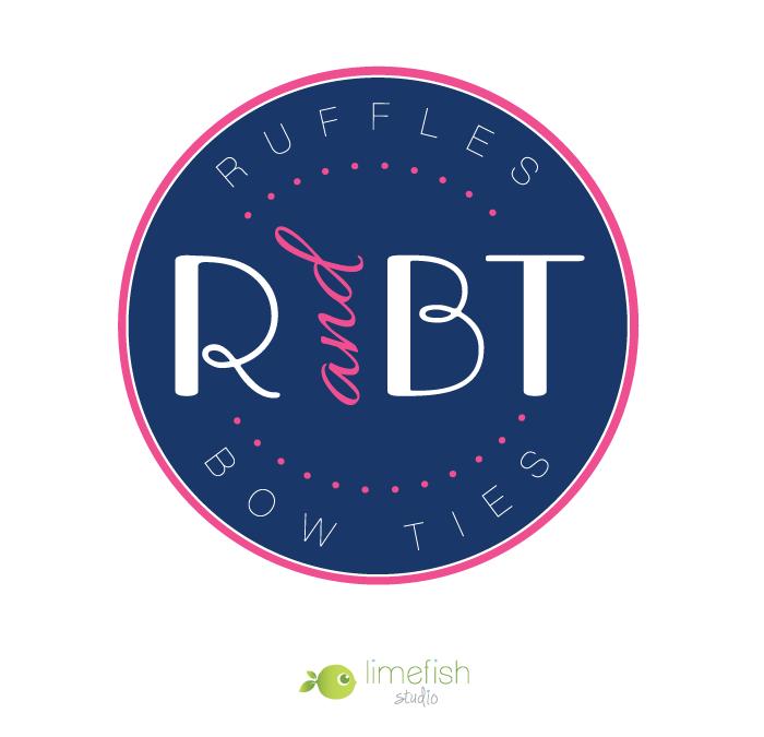 Custom Logo Design + Branding :: Ruffles and Bow Ties » Limefish Studio