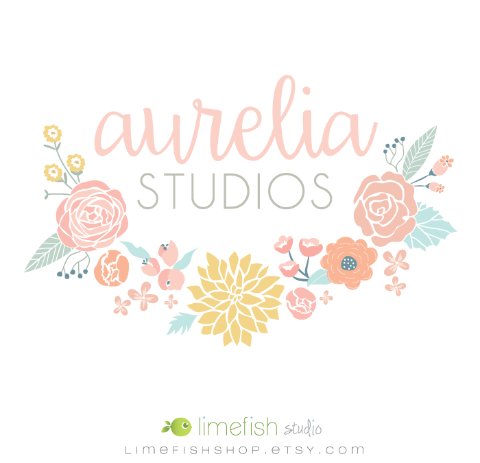 Photographer Branding Aurelia Studios Logo by Limefish Studio