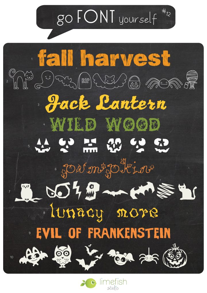 Go Font Yourself #12 - Halloween Free Font Downloads