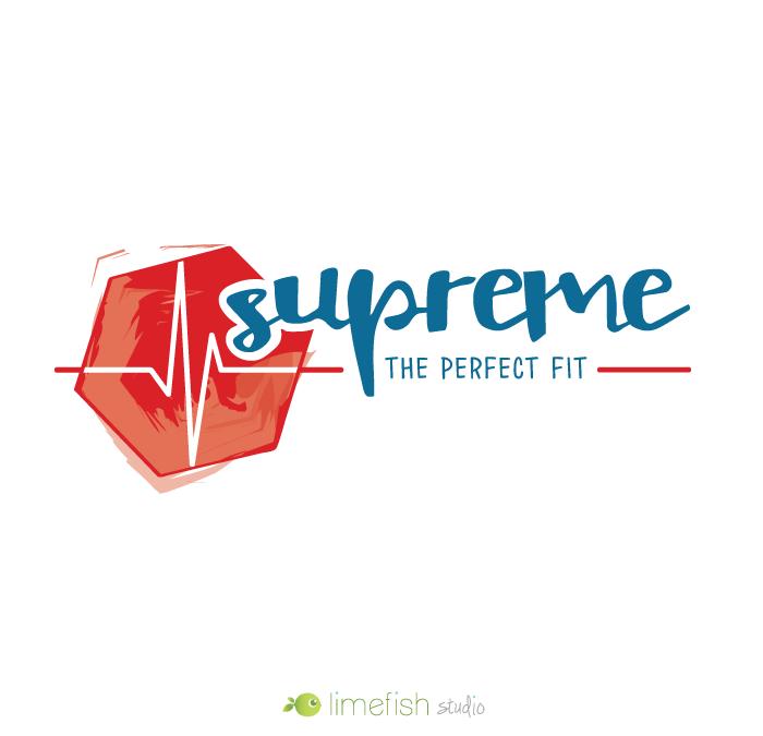 Supreme Fitness Coach Logo by Limefish Studio | Custom Logo and Branding Designs